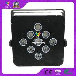 9X10W 4in1 배터리 무선 평면 LED 파 64