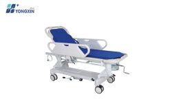 Yxz-E-1 수동 병원에서는 용 ABS 환자 이송 트롤리 스트레처를 사용합니다 매트리스와 IV 폴이 있는 응급실