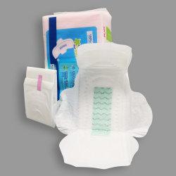 La mujer del periodo menstrual Servilleta suave algodón de la superficie con tejido sin tejer de Lady Compresas