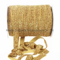 Nastro dorato/d'argento del commercio all'ingrosso di alta qualità di 100% del velluto per il regalo/indumenti