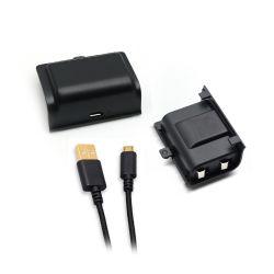 1PCS Uitrusting van de Kabel van de Lader USB van de Batterij Pack+3m van het Polymeer van het Lithium van 1200mAh de Navulbare voor Microsoft xBox Toebehoren van Één de Draadloze Spel van het Controlemechanisme