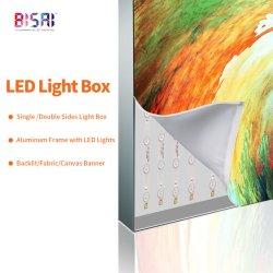 ビクトリアシークレット LED PVC ファブリックを広告する中国の卸し売り屋外ディスプレイ キャンバスバックライトバナーライトボックス