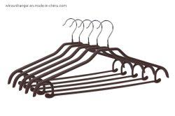 Venda a quente personalizados com revestimento de PVC Solas antiderrapantes revestimento plástico calça personalizado de moda do gancho de metal