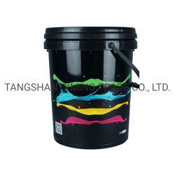 20L 5갤런의 다양한 색상의 플라스틱 페인트 버킷/통/드럼 뚜껑 및 손잡이