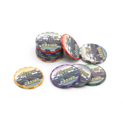 Acessórios de jogos de azar Casino Chips de cerâmica de peças