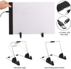 A0 A1 A2 A3 A4 A5 크기의 유연한 LED 조명 패드 LED 추적 보드 배율 그림 추적 얇은 조명 패드 상자