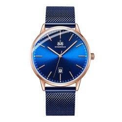 Form-Förderung Soem-ODM-Geschenk-Edelstahl-Rückseiten-kundenspezifische Uhr (JY-AL149)