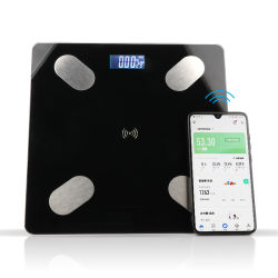 Закаленное стекло 180кг версии Bluetooth электронная цифровая комната органа жира Весы