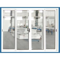 Glas dat van het Systeem van de Poort van de Veiligheid van de ingang het Binnenlandse Buiten Plastic de Deur van pvc glijdt
