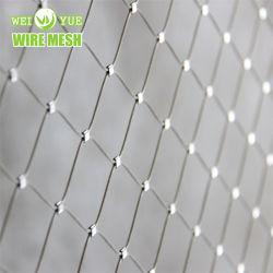 304 316L веревки сетки с обжимным кольцом типа Garden ограждение защитное ограждение гибкий тросик из нержавеющей стали кабель ячеистой сети безопасности