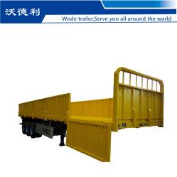 4축 60톤 건식 화물 캐리어 사이드월 펜스 세미 컨테이너용 트럭 트레일러