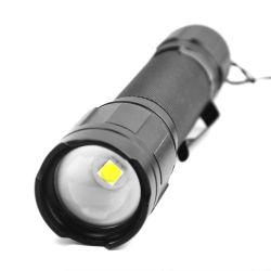 알루미늄 LED 18650 충전식 2600mAh 배터리 전력 1000lm 전등 방수형