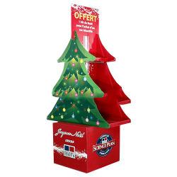 Decoraciones de Navidad Tienda de impresión de alta calidad de la Tarjeta de saludo expositor de cartón cartón
