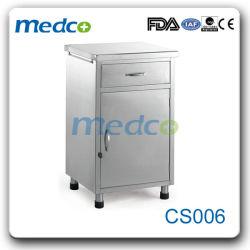 Governo domestico poco costoso del lato del letto delle attrezzature mediche S.S. della mobilia con i cassetti