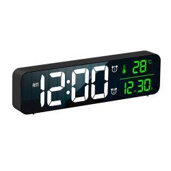 Многофункциональная рукоятка новой моды светодиодный дисплей часов дата и время цифрового дома календаря украшения