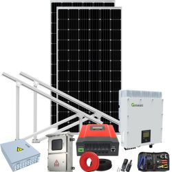 현재 보호 태양 시스템 힘 플랜트 상공에 전압 큰 파도