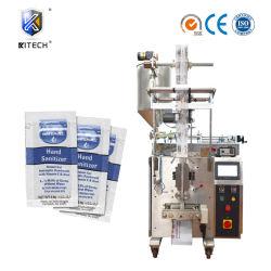 Kleines Spiritus-Handdesinfizierer-Gel-/Reinigungsmittel-/Seifen-flüssiges Quetschkissen-füllende verpackenfügeabdichtung-Maschine der Vertikale-5ml 10ml mit automatischem