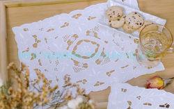 عمل بروديري أنغلايز أبيض مبروري تقليدي ألماني التطريز، حصيرة، مفارش، ستارة، أغطية السرير، غطاء لحاف غطاء طاولة غطاء لحجبات اللحاف ورقة سرير