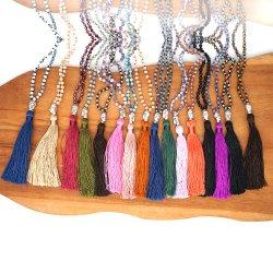 Mlgm Big Fransen Quaste Halskette für Frau 2021 Mode Kristall Perle Feine Schmuck Multicolors Custom Akzeptieren Perlen Buddha Religiöse Ketten