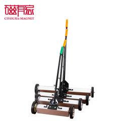 24 '' drücken Hauptbefestigungsteil-magnetische Fußboden-Kehrmaschine von Hand ein