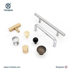Personalizado de Aço Inoxidável Bronze Ferragens porta de painel puxe o botão multifunções