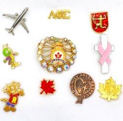 BSCI esmalte Metal personalizadas feitas na fábrica do pino de lapela Emblema Emblema de ouro para Dom/Promoção/Souvinir