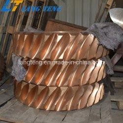 La fundición de bronce de estaño y el gusano de la caja de engranaje helicoidal sinfín