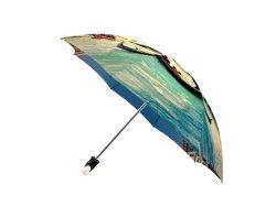 تصميم ذو تصميم مطبوع على البقعة Secinic Vanice Italy مفتوح يدويًا ثلاثي الطي وأغلق مظلة السفر