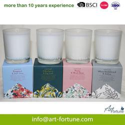 50g 4pk 꽃 향기 은은한 유리 촛불 세트