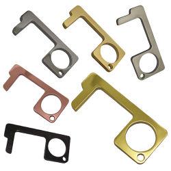 La sublimación de manos libres de aleación de zinc Abrepuertas EDC Herramienta llaves ofreciendo Non-Contact gancho abrepuertas