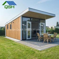2 chambre à coucher la lumière de l'acier petit hangar en bois chambre minuscule/ Préfabriqué modulaire de la chambre