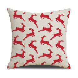 El Ciervo de Navidad Home Decor lanzar almohada Imprimir Funda de cojín artículos de Navidad