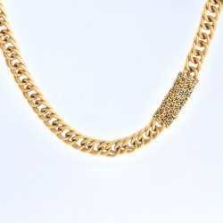 Handmade fashion Collier en acier inoxydable plaqué or Bijoux Lady Choker colliers