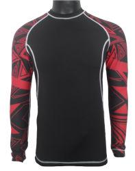 2020 de Fitness die van de Gymnastiek van mensen het Lange Overhemd van de Compressie van de Slijtage van de Sporten van de Koker Sneldrogende kleden