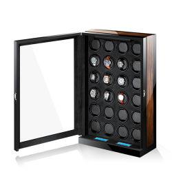 Vidros de relógio automático de alta qualidade de fibra de carbono na caixa do motor silencioso Mecanismo de relógios de casos para exibir os relógios