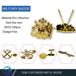 La fábrica de metal personalizados Artesanías Unifrom Moda Plakette Insignia Regalo Promocional Botón Wappen insignia de solapa de la Policía Militar Sixy Badge en China