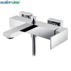 Accesorios de baño de cromo en la pared del baño ducha grifo mezclador