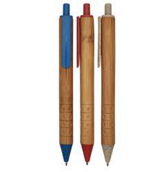 De Ballpoint van het Stro van de Tarwe van het bamboe met Gepersonaliseerd Embleem voor het Schrijven