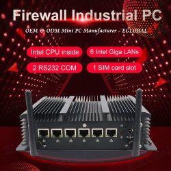 Eglobal 6 RJ45 des LAN-WiFi Netzdes Serve 1 Fräser Mini-PC Intel-Kern-I3 7167u Pfsense Fireware COM 1 Rj 45COM DB