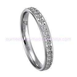 Los anillos de plata para niñas muy Linda Princesa anillos de compromiso mecanizado
