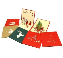Schioccare in su le cartoline di Natale, accoglienti le schede di festa con i regali Handmade di natale di nuovo anno degli autoadesivi della busta