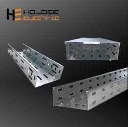 Im Freien Aluminiumlegierung-geprüfter Hochleistungstyp durchlöcherte Faser-Optikkabel-Tellersegment-Strichleiter-Abflussrinne Ttype heißes BAD galvanisierte Kabel-Tellersegmenttrunking-Größen-Liste