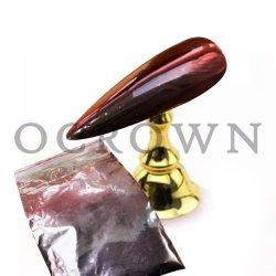Nouveau Hot Vente de poudre de chrome d'ongles rouge au noir Pigment Caméléon
