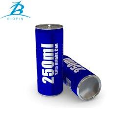 dünne einfache geöffnete Aluminiumdose 250ml und Kappe 200sot/Rpt für das Getränkeverpacken