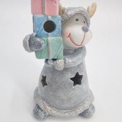 Résine Figurines de noël santa claus Santa cerf avec figurine Polyresin Cadeaux
