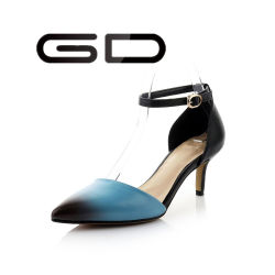 Натуральная кожа TPR единственного платья благоухающем курорте Color Matching высокого каблука обувь