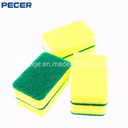 Дружественность к окружающей среде кухонные губки с абразивным покрытием губкой для кухни и блюда в горшочках очистка