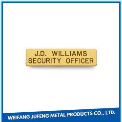 Nome de gravação a laser de latão Card Placa de logotipo de Metal