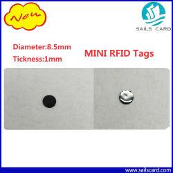 2017 Nouveau Mini Tags RFID pour la médecine bouteille/Cloth/gestion