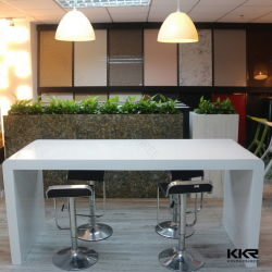 Kantoormeubilair modern ontwerp Acryl massief oppervlak Resin Stone Bar Tabel